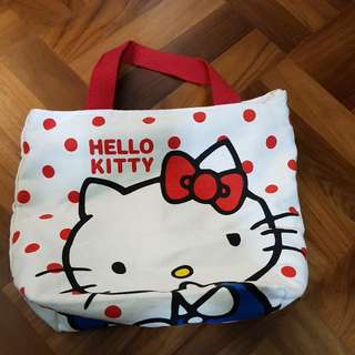 Hello Kitty Cotton Bag With Zip Closure
