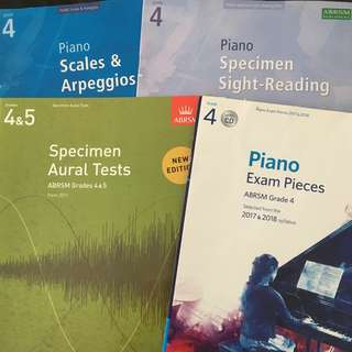 ABRSM Piano Book Grade 4 Exam Pieces 2017-2018 with CD, Scales and Arpeggios, Sight reading, specimen aural tests Grade 4 Grade 5