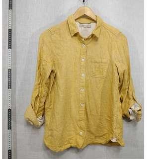 11118150-Maple Feel grain yellow shirt穀粒黃長袖襯衫