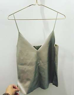 Zara suedette and leather feel cami vest. Size small. Never been worn