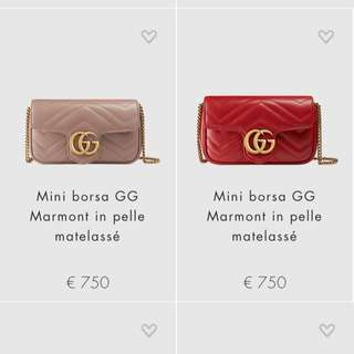 Gucci mini bag gg marmont super mini