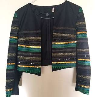 H&M Sequined Jacket size 34