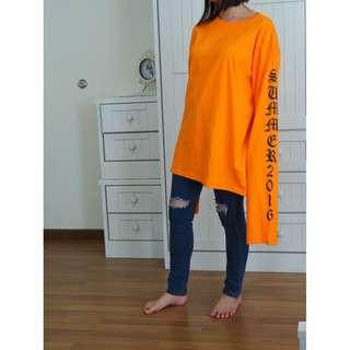 [NEW] Bright orange long-sleeved sweater