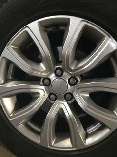 """Range Rover sport 18"""" stock rims ( with Tyres )"""