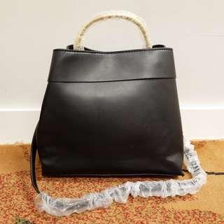MANGO Metal Handle Bag