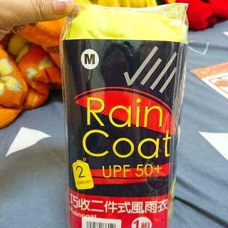 全新✨Rain Coat UPF50+ 兩件式雨衣 M