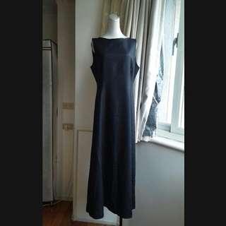 義大利精品LIFELIKE LINDARICO純麻長洋裝
