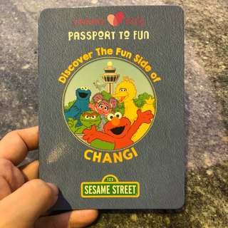 Sesame Street fun passport Changi Airport Changilovekids