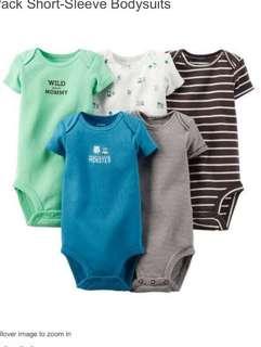 Carter's 寶寶包屁衣五件裝 6-9M 全新正品 美國購回
