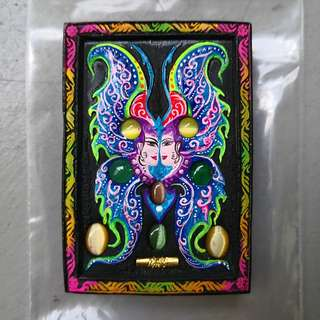 Kruba Krissana Butterfly Amulet - Jumbo Roman Butterfly. UV Paint. BE 2560. With Temple Stamp. Unworn And Brand New!!!!