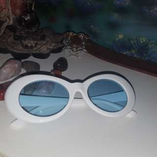 Blue clout glasses