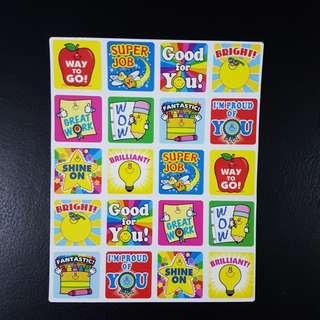 [INSTOCK] BN Winning Words Reward/Merit Stickers (Carson Dellosa)