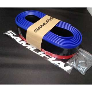 Bumper Lip Black With Blue Line For Car (Black With Blue Line)