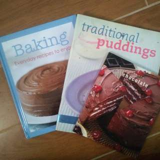 Dessert recipe books (Set)