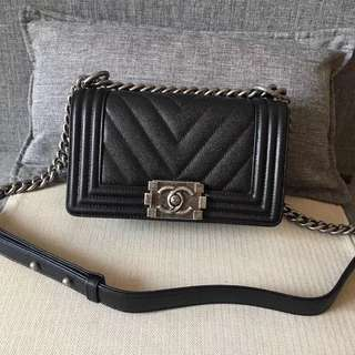 Chanel Leboy Chevron Small Flap 20cm