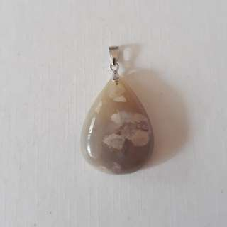 Very nice Cherry Agate pendant(樱花玛瑙吊坠).