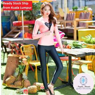 (Ready Stock KL) Muslimah Swimming Suit Swimsuit Woman Swimsuit Swimwear Beachwear Long Sleeve Korean Swimsuit
