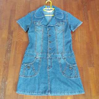 Denim Dress. XL Size.