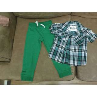 Boys Lot of 2-  Terranova jogging pants + Mossimo Polo