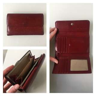 Country Road Red Leather Wallet