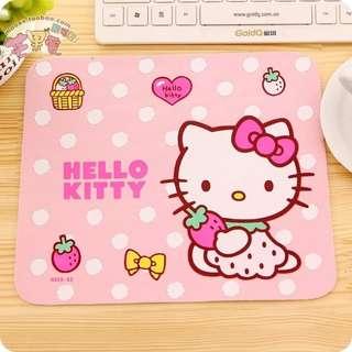 (現貨)kitty方形草莓滑鼠墊