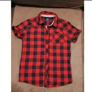 AUTH MANGO KIDS red checkered polo 5/6Y