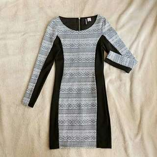 Bodycon Tribal Printed Dress (used once)