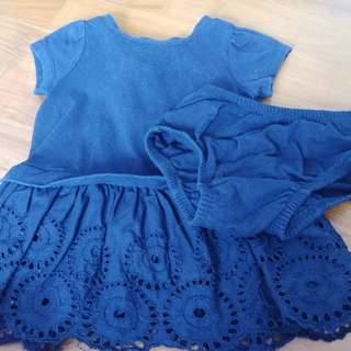 Baby gap navy dress