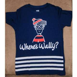 UNIQLO boys Where's Wally shirt sz120
