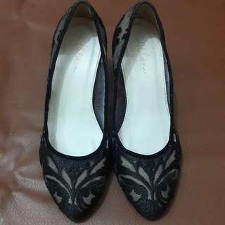 Sepatu heels wanita lace