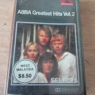 ABBA Greatest Hits Cassette English Songs