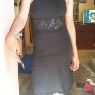 Black Stretchable Padded Dress