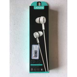 USAMS EP-12 Wired Earphones (Brand New)