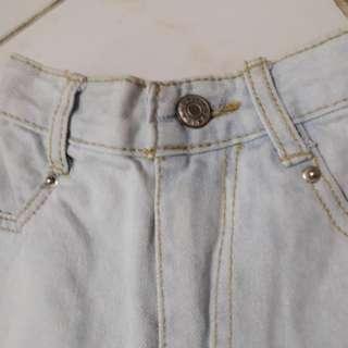 High waist short (garterized)