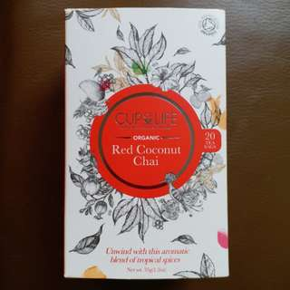 【SALE】Cup of Life: Organic Red Coconut Chai (20 tea bags)