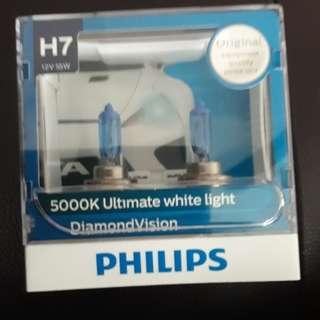 Philips H7 headlight 5000K diamond vision