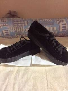 Puma Fenty-Inspired Velvet Black Sneakers