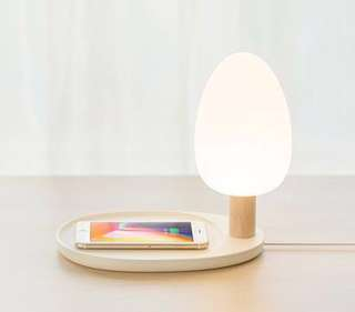 Table Lamp Wireless Charging for phone with QI support