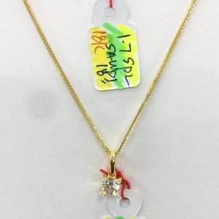 18k pawnable Saudi necklace