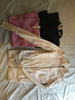 Lorna Jane XS tank tops, 7/8 tights and  white jacket COMBO... everything included!!!