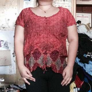 Plus size summer blouse
