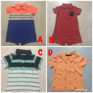 Baby Boy Polo Tee & Romper