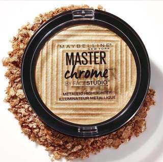 🌟INSTOCK🌟Maybelline Face Studio Master Chrome Highlight - Molton Gold