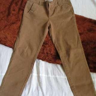 Bossini Brown Skinny Pants (Size 27 - UNISEX)