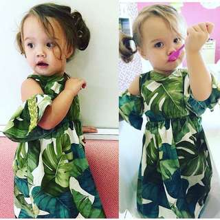 Leafy green dress