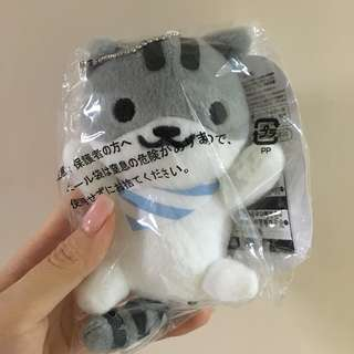 貓咪收集一番抽獎F獎灰白貓貓公仔🐱 收集貓咪 貓咪後院 Neko Atsume