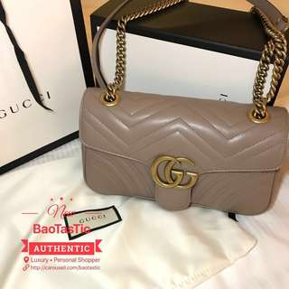 Brand New Gucci Marmont Flap Small in Nude