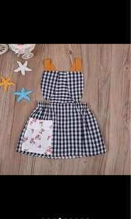 Baby girl kid summer rabbit dress skirt infant toddler newborn