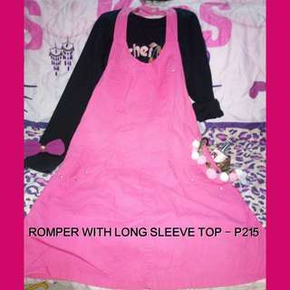 Romper with long sleeve top