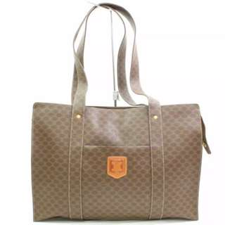Authentic CÈLINE Paris Macadam pvc/leather shoulder bag